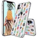IPhone X Case, IPhone 10 Clear Case, MOSNOVO Cute Pineapple Pattern Clear Design Printed Transparent Plastic Hard Back Case With TPU Bumper Protective Case Cover For IPhone X/iPhone 10
