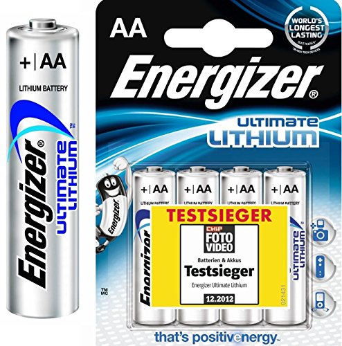 40 Energizer Ultimate L91 Lithium Mignon Batterien (AA, 3000mAh, 1,5V) Ultimate Lithium Batterien