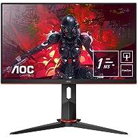 AOC Gaming 24G2U5 - 24 Zoll FHD Monitor, 75 Hz, 1ms, FreeSync (1920x1080, HDMI, DisplayPort, USB Hub) schwarz/rot