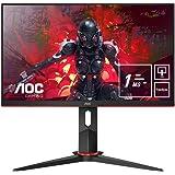AOC Écran gamer 24G2U5/BK 60cm (23,8pouces) (FHD, HDMI, DisplayPort, FreeSync, temps de réponse de 1ms, 75Hz, 1920x1080)