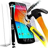 Set mit Displayschutzfolie aus Hartglas, unzerstörbar, für Samsung Galaxy J32016,Filter, Displayschutz, unzerkratzbar, Scheibe + Eingabestift schwarz für Smartphone J 3SM-A320F J3 6 oder Duos 4G