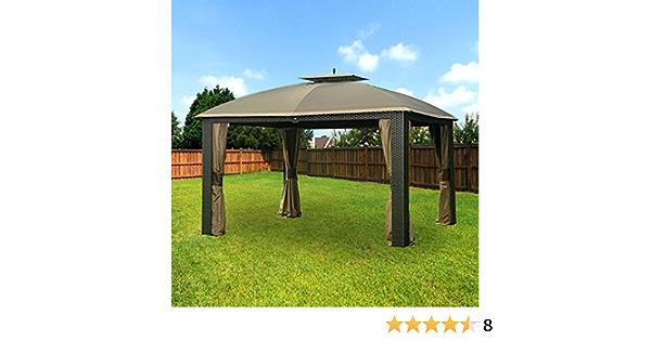 Garden Winds Replacement Canopy For Riviera Wicker Gazebo Rip Lock 350 Amazon Co Uk Garden Outdoors