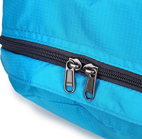 LF&F backpack 20-35L Kapazität wasserdicht Nylon Schultertaschen Reisetaschen Rucksäcke für Outdoor-Sport Falten Rucksack Schüler Taschen Mehrzweck- Multi Taschen Blue