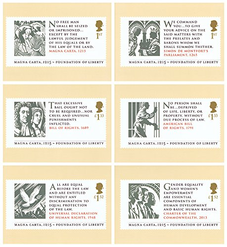 2015-magna-carta-phq-cards-no-402-mint-set-of-6-royal-mail-postcards