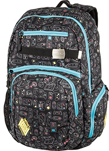 Nitro Snowboards Rucksack Hero Pack, Colore Nero (Black), Dimensioni: 23 x 38 x 52 cm, 37 Liter Multicolore (Gaming)