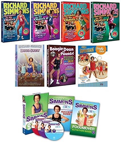 Richard Simmons Ultimate Mega Collection: Sweatin' to the Oldies & Project H.O.P.E. + Much More (10 Discs) - Simmons Sweatin Richard