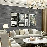 Reyqing Moderne, Einfache Nachahmung Stein Tapete, Horizontale Streifen Wohnzimmer, Stereoskopisches Fernsehen, Hintergrund Wand Tapete, Dunkle Grau, Wallpaper Nur