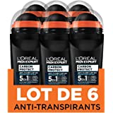 Men Expert L 'Oréal Carbon Protect Ice Fresh Deodorante Bille uomo Anti-traces 50 ml – Confezione da 6