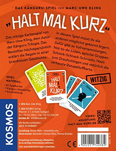 KOSMOS Spiele 740382 - Kartenspiel Halt mal kurz - 2