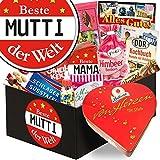 Geschenk Herz Box ♥ Personalisierte Geschenk-Box - Beste Mutti der Welt ♥ Schokolade Geschenkideen ♥ Geschenk für Mama 60. Geburtstag Geschenk für Mutter 60 jahre Geschenk für Mutter über 60 persönliches Geschenk Mama 50