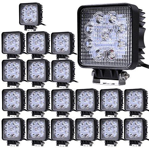 20pcs 27W Spot Faro da Lavoro Luce di Profondità Faro,ALPHA DIMA Impermeabile IP67 LED 12V 24V Faro LED Luce Fanale Anteriore LED per 4WD SUV ATV UTV Camion MOTO