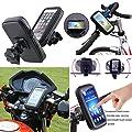 Support de vélo Support pour téléphone portable, iPro Accessoires–étanche Vélo téléphone support de fixation avec résistant à l'eau Vélo Sac de cadre transparent Touchable étui orientable à 360degrés tous les téléphones portables iPhone 6/6Plus/5/5S/5