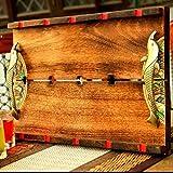 Unravel India Madhubani Handpainted Large Wooden Tray best price on Amazon @ Rs. 2399