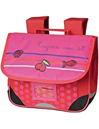 Cartable maternelle rose CAROLINE LISFRANC 1 compartiment 35cm