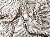 Spanisch Streifen Leinen & Baumwolle-Mischgewebe Kleid