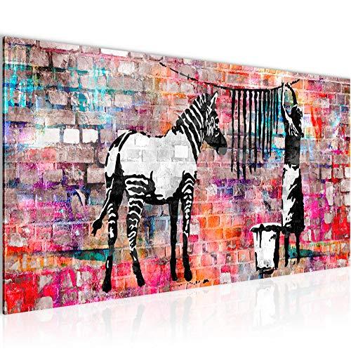 c835f8a860 Bilder Banksy Washing Zebra Wandbild 100 x 40 cm Vlies - Leinwand Bild XXL  Format Wandbilder