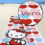 Kid 's niños niñas regalo–personalizada de playa Baño Toalla de piscina, diseño de Hello Kitty