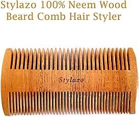 Stylazo 100% Neem Wood Beard Comb for Men Premium Quality Beard Shaper Comb Hand Made Beard Shaping And Styling Comb Tool