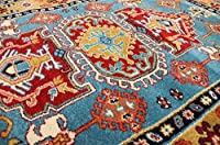 A2Z Rug Modern & Traditional Persian Design (Blue - 150x225 cm - 4'9''x7'4'' ft) Area Rugs Pazirik Collection - Contemporary Living & Dinning & Bedroom Soft Carpet from A2Z Rug