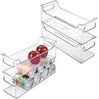 mDesign bac de rangement (lot de 4) – boîte alimentaire plastique idéale comme rangement frigo ou rangement pour…