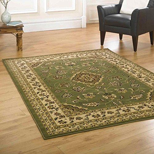 eRugs - Tappeto classico orientale grande, con motivo floreale in stile persiano tradizionale, 60 x 110 cm, colore: verde