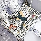 Simmia Home Nappe Durable Décoration de Table Motif Nappe à Carreaux imperméable, Anti-brûlante, Anti-poussière, Noire, cerf,140 * 100cm