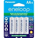 Panasonic - BK-3MCCA4BA Eneloop Aa New 2100 Cycle Ni-mh Pre-charged Rechargeable Batteries 4 Pack - Pe1