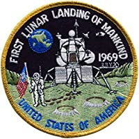 PATCH,TOPPA RICAMATA TERMOADESIVA ,, 1st Lunar Landing Apollo 10cm ,, (Nasa Patch)