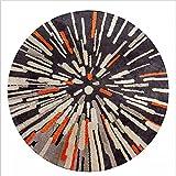 WENBIAOXUE Teppich-abstrakte Kunstteppich-Rundmatten, 150cm