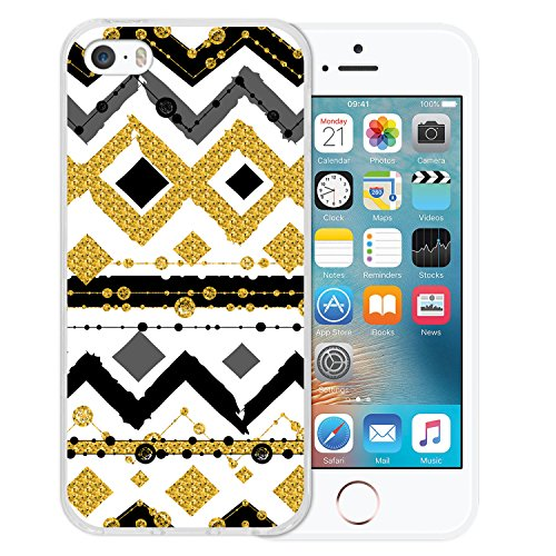 iPhone SE iPhone 5 5S Hülle, WoowCase® [Hybrid] Handyhülle PC + Silikon für [ iPhone SE iPhone 5 5S ] Husky-Hunde Sammlung Tier Designs Handytasche Handy Cover Case Schutzhülle - Transparent Housse Gel iPhone SE iPhone 5 5S Transparent D0567