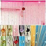 EgBert Imitierte Kristalle Perlen String Vorhang Fenster DIY Wall Decor - Lila