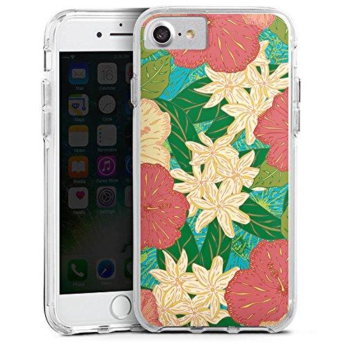 Apple iPhone 8 Bumper Hülle Bumper Case Glitzer Hülle Spring Flowers Blumen Bumper Case transparent