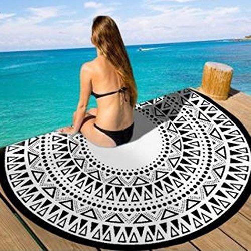 Lhgs tovaglia rotonda arazzo mandala spiaggia avvolgere asciugamano tappetino cover-up yoga