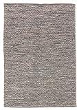 Trendcarpet Teppich 160 x 230 cm (baumwollteppich) - Tuva (Grau) Größe 160 x 230 cm