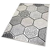 Balta Rugs in- und Outdoor-Teppich Classic Hexagon Tiles Grey L 160x230cm für Innen und Außen