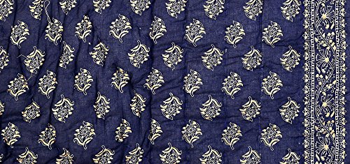Fashion Royal Jaipuri Light Weight Dark Blue Cotton Double Bed Quilt ,Rajai,Razai (Dark Blue, Double Bed Quilt )