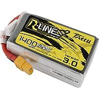 TATTU R-Line 1400mAh 22.2V 120C 6S Batteria Lipo con connettore XT60 per Gare FPV Professionali
