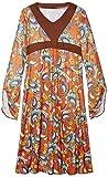 Smiffys, Damen Woodstock Kostüm, Maxi Kleid, Größe: X1, 43832