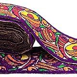 tela multicolor recortar 7,6 cm de ancho sari cinta bordada frontera por el patio