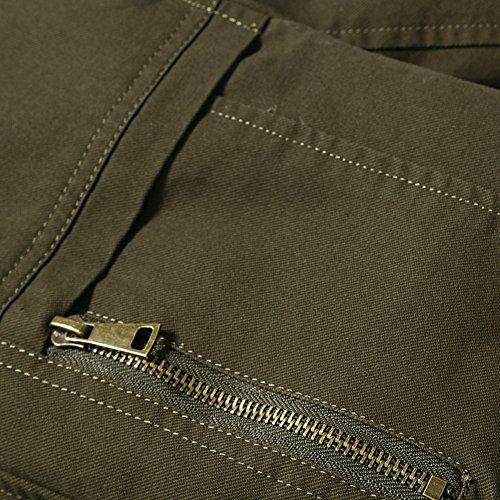JZWXX Homme Automne Casual Blousons de style militaire Elegant Un Brodé Veste JH9618FR kaki