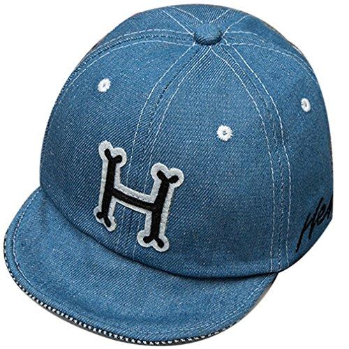 Belsen Baseballkappe für Kinder und Babys mit einem weichen Kartonschirm Gr. Einheitsgröße, letter H black Halloween-trucker Hut