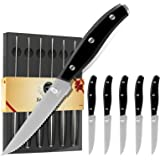 Ensemble de couteaux à steak 6 pièces ZENG avec bord dentelé, ensemble de couteaux en acier inoxydable de haute qualité, cout