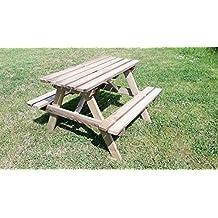 Kindersitzgarnitur 4 Sitzer Kinder Sitzgruppe Holz Garten Tisch Bank Kindertisch