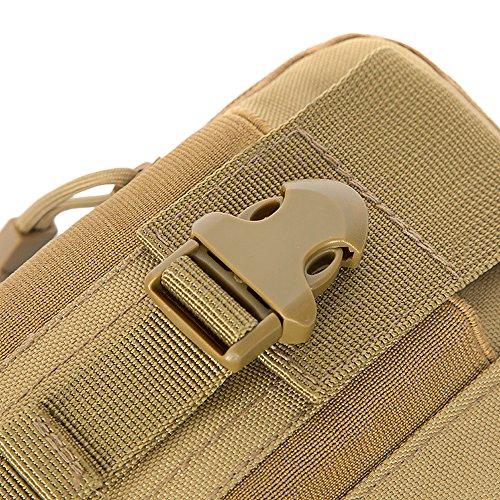 Tactical Molle bolsa cintura cinturón paquetes bolsa utilidad Gadget bolsa Fanny Pack Pocket, C