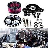 KaTur Motorrad Luftfilter Ansaugfilter System Kit für 1988-2015 Harley Sportster XL883 X 1200