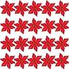 61Wf0NggLUL. SS100  - Decoraciones Para Árboles De Navidad Hueca La Navidad Purpurina Artificial De Flor Decoración Del Hogar