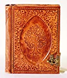 Carnet cuir Tree Journal Intime avec fermeture 500 pages stable en cuir livre Diary livre d'or posiealbum blanches