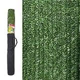 Ldk Garden 82182 - Seto Artificial de ocultación para jardín, 300 x 150 x 20 cm, Color Verde