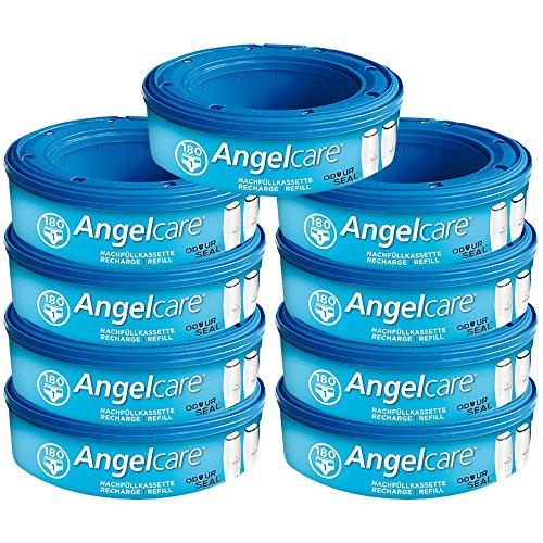 Angelcare 9 Nachfüllkassetten für Windeleimer Comfort, Deluxe und Comfort Plus