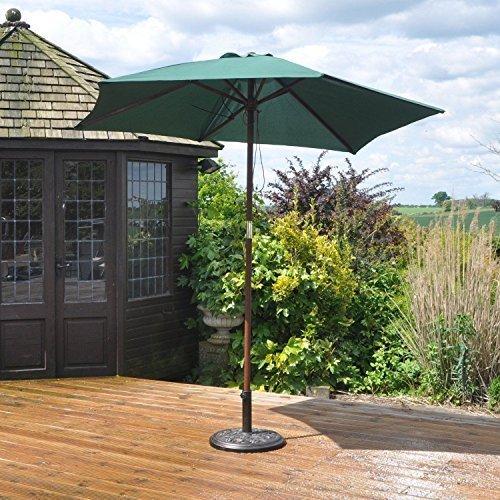 Garden Mile Groß Tilting Garten Sonnenschirm Regenschirm Sonne schirm verfügbar In Black